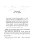 Moral Hazard in Lending and Labor Market Volatility