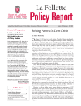 Policy Report La Follette