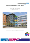 PORTSMOUTH HOSPITALS NHS TRUST QUALITY ACCOUNTS 2012 – 2013