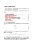 Chapter 6. Linear Equations