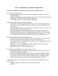 SC151 - CHAPTER 9 LEARNING OBJECTIVES