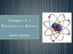 Chapter 5 * Electrons in Atoms