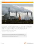 Global 500 Greenhouse Gas Report: The Fossil