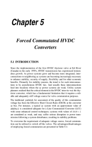 Forced Commutated HVDC Converters