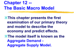 Chapter 12 -- The Basic Macro Model