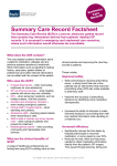 Summary Care Record Factsheet