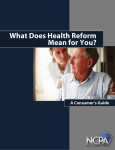 What Does Health Reform Mean to You? - NCPA