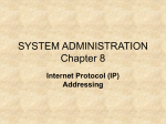 SYSTEM ADMINISTRATION Chapter 8 Internet Protocol (IP) Addressing