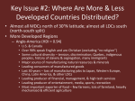 Where Are More & Less Developed Countries Distributed?