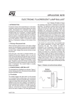 Electronic fluorescent lamp ballast
