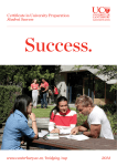 Certificate in University Preparation Student Success