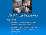 Ch 8.1 Earthquakes - LWC Earth Science