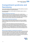 Compartment syndrome and fasciotomy