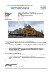 executive director recommendation to the heritage council of victoria