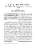 PeachPy: A Python Framework for Developing High-Performance Assembly Kernels Marat Dukhan