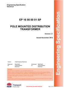 Pole Mounted Distribution Transformer