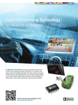 Signal Processing Technology for Automotive Systems In Automotive Electronics