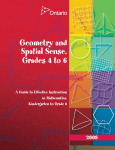 Geometry and Spatial Sense, Grades 4 to 6