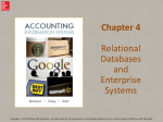 Relational Databases and Enterprise Systems