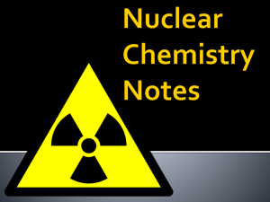 nuclear chemistry notes 1
