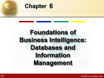 6 Foundations of Business Intelligence: Databases and