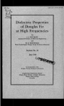 Dielectric Properties at High Frequencies of Douglas Fir 20