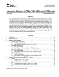 Interfacing Between LVPECL, VML, CML and