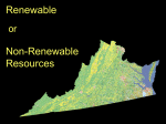 PowerPoint: Virginia`s Renewable and Nonrenewable Resources