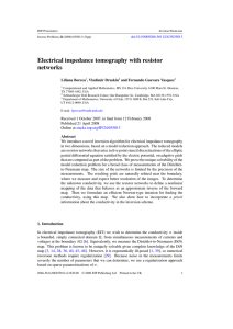 Electrical impedance tomography with resistor networks Liliana Borcea , Vladimir Druskin