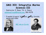 SMS 303: Integrative Marine Sciences III