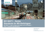 IEC 62271 – Series Standards for MV