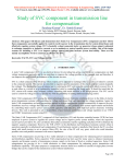 Study of SVC component in transmission line for