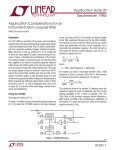 Application Considerations for an Instrumentation Lowpass Filter
