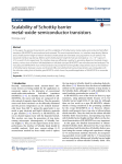 Scalability of Schottky barrier metal-oxide