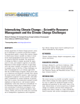 Internalizing Climate Change—Scientific Resource Management and the Climate Change Challenges