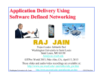 Application Delivery Using Software Defined Networking