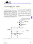 Oscillators for Actel FPGAs