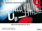 Electrical Disturbances 2012