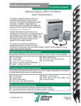 Pre-Wired Auto Transformers Sell Sheet