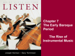 Chapter 7 The Early Baroque Period The Rise of