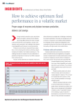 How to achieve optimum feed performance in a volatile market
