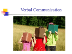 Session 10 Verbal Communication and Communication Style