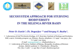 Ecosystem Approach for studying biodiversity in the Selenga basin