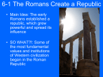 6-1 The Romans Create a Republic