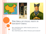 The Idea of filial piety in Asian Culture