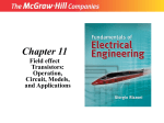 Chapter 11 Field effect Transistors: Operation, Circuit, Models, and