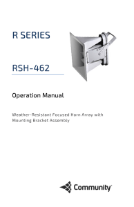 RSH-462 Operation Manual - Community Professional Loudspeakers