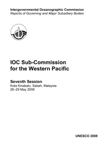 IOC Sub-Commission for the Western Pacific   Seventh Session