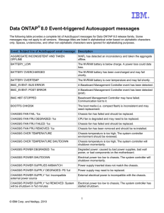 Data ONTAP® 8.0 Event-triggered Autosupport messages