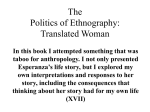 The Politics of Ethnography: Translated Woman